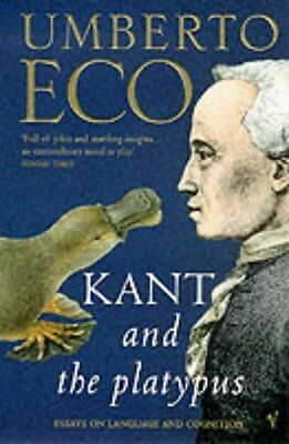 Kant And The Platypus: Essays On Language And Cognition,PB,Umberto Eco - NEW