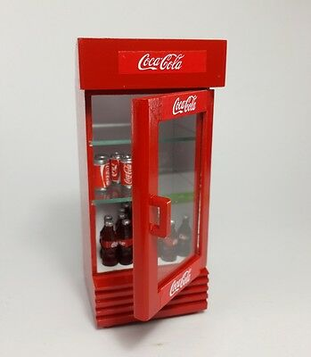 Dollhouse Miniature Fridge Coke Refrigerator Soft Drink Supply Display Gift New