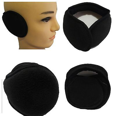 Winter Men Women Youth  Black soft Fleece Earband earwarmers Earmuffs earwrap