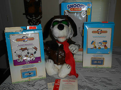 World of Wonder Peanuts Animated SNOOPY Talking Doll Vintage W.O.W. 1980s