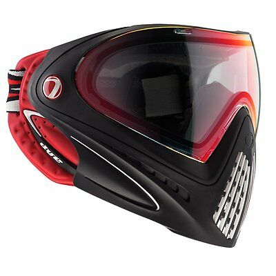 New Dye I4 Thermal Paintball Airsoft Goggles Mask - Black/Red - Dirty Bird
