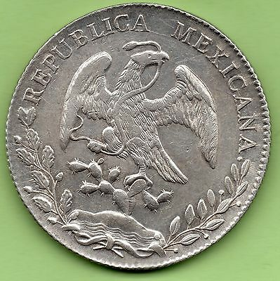 8 Reales Mexico 1896 Silver 27,16 Grs