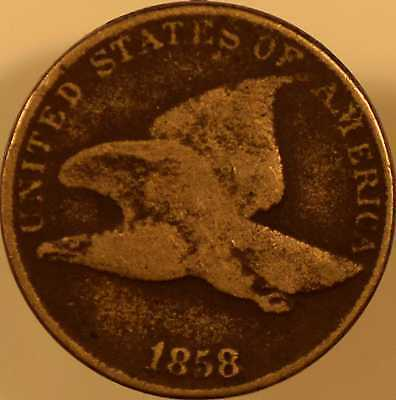 1858 Flying Eagle Cent Almost Good