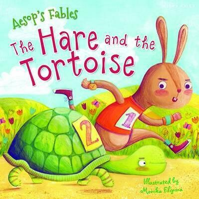 Aesop's Fables The Hare and the Tortoise by Miles Kelly Paperback Book Free Ship