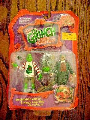 2000--HOW THE GRINCH STOLE CHRISTMAS! w/ Mayor (Action Figures) Playmates [NIP]