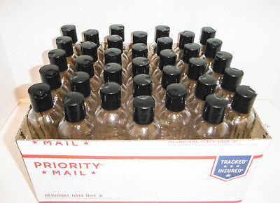 4oz Bottle Bullet 36 ct Free Shipping. Clear Plastic PET Bottles dispensing Cap.