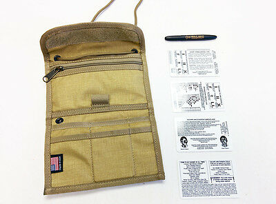 ESEE Passport Case Holder Wallet RFID Fisher Space Pen Tan #28023