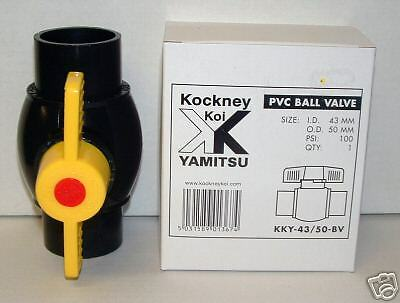"1.5"" KOCKNEY Koi PVC BALL VALVE Koi Pond Filter"
