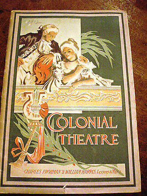 1912 Colonial Theatre Boston Massachusetts Program & Advertisements