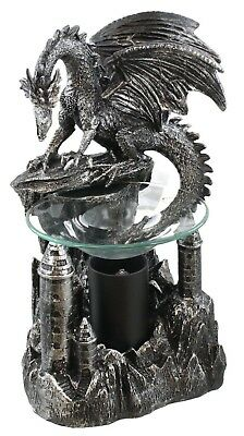 "9.5"" Height DWK Dragon's Peak Fantasy Gothic Electric Oil Warmer Tart Burner"