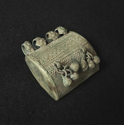 1800's C. Antique Bukhara Uzbek Pendant Amulet Case,  Original  Ethnic Jewelry