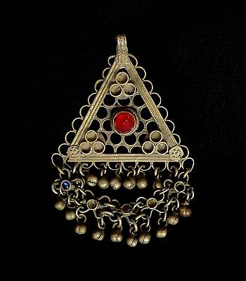 1800's C. Original Antique Bukhara Uzbek  Ethnic Belly Dancer Jewelry Pendant