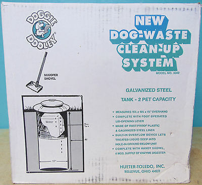 Doggie Dooley 3000 Septic-Tank-Style Pet-Waste Disposal System New