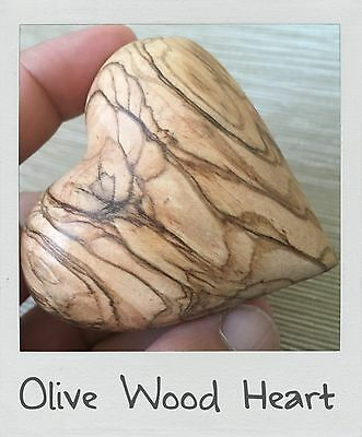 Olive Wood Carved Heart Jerusalem Art Bethlehem Olive Wood Wooden Heart Handmade