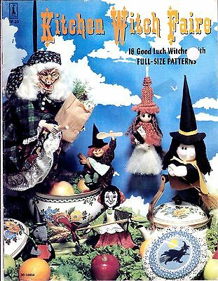 Vintage Kitchen Witch Faire Pattern 18 Good Luck Witches with Full Size Patterns