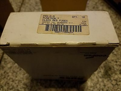 Bussmann Frs-R-5 5A Fusetron Fuse (Set Of 10) New Condition