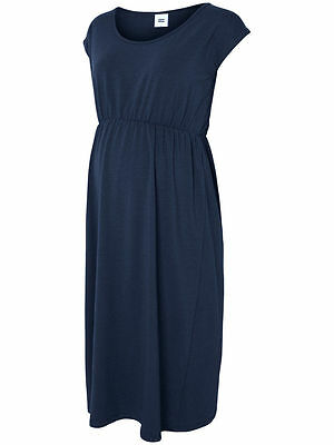BNWT Mamalicious Maternity Dress Size 12 Dark Navy Short Sleeve RRP £25