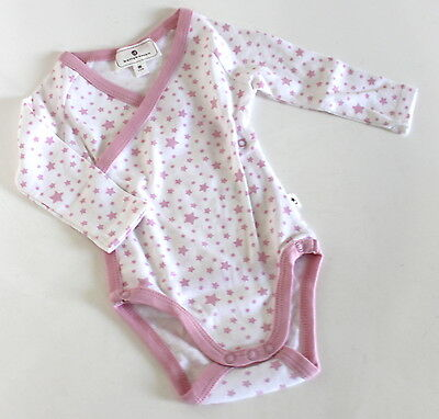 Bellybutton - langarm Body Shirt Babybody Gr. 56 weiß rosa Basic /10#MYB