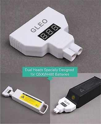 Lipo Battery Voltage Tester GLED Monitor For Yuneec Q500 4K H480 Typhoon Drone