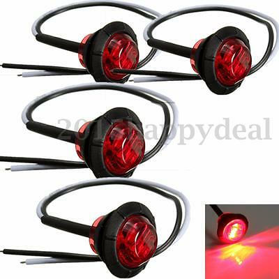 4x 12V Front Red LED Side Marker Light Indicator Lamp Truck Trailer Lorry