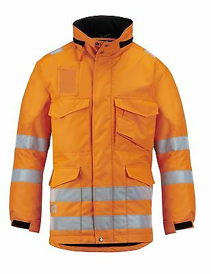 Snickers 1823 High-Vis Winter Long Jacket Class 3 SnickersDirect Orange