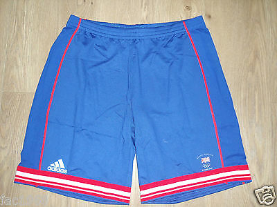 Team GB Great Britain Beijing 2008 Olympics Women's Shorts Adidas Blue UK 12 New