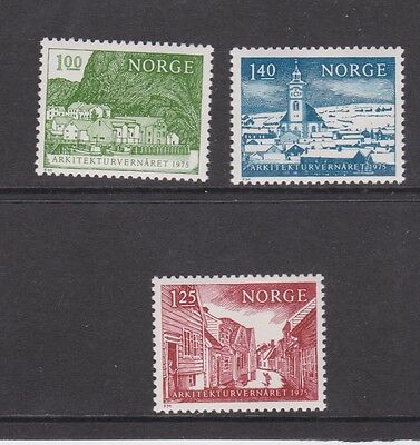 Umm Mnh Stamp Set European Architecture 1975 Norway Europa