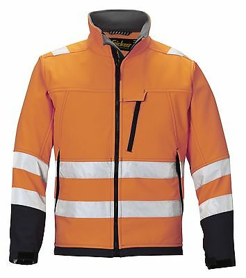 Snickers 1213 High Visibility Soft Shell Jacket Class 2 SnickersDirect Orange