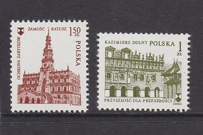 Umm Mnh Stamp Set European Architecture 1975 Poland Europa Sg 2399-2400