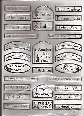A4 Die Cut /& Foiled Banners 050-544 Birthday Silver on Pearl
