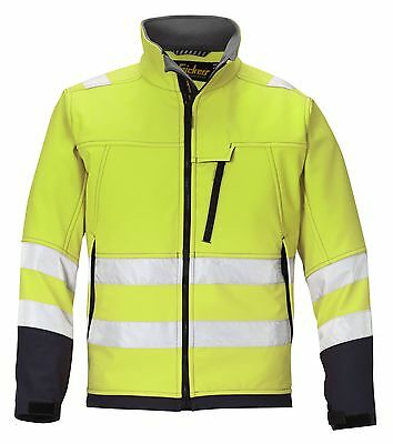 Snickers 1213 High Visibility Soft Shell Jacket Class 2 SnickersDirect Yellow
