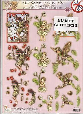 Flower Fairies A4 Die Cut 3D Decoupage Sheet (056-51)