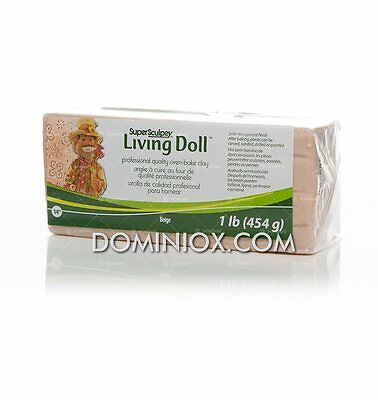 Super Sculpey Living Doll (454g) - Polyform Products Company 715891114322