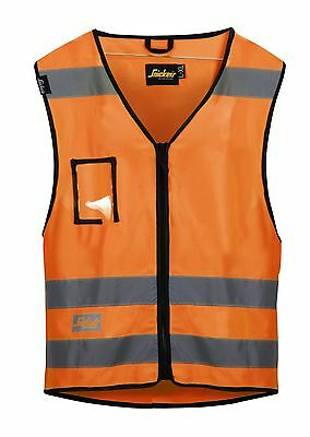 Snickers 9153 High-Vis Vest Class 2 High Visibility SnickersDirect Orange