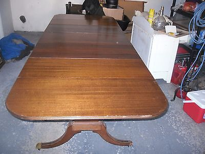 banquet table mahogany w/ 3 leaves drop leaf.