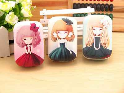 Beauty Girl Contact Lens Case US Pupil Storage Box Travel Kit Container Holder