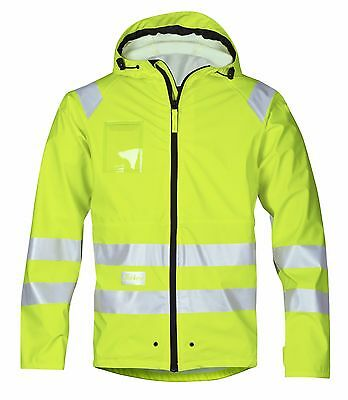 Snickers Workwear 8233 High-Vis PU Rain Jacket Class 3 SnickersDirect Yellow