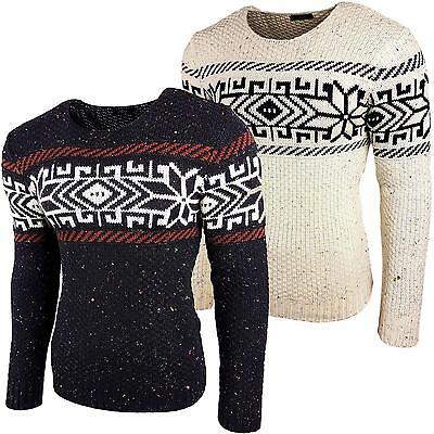 Subliminal Mode - Pull Over Col arrondi Homme Tricot SB-6219 Grosse Maille