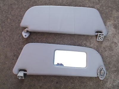 Vauxhall Corsa B Sun Visors With Mirror & Mountings 1993-2000 Pair Of