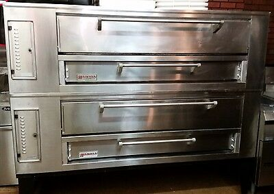 Excellent Cond***Marsal SD660 Stacked Pizza Ovens 43Dx80Wx66H Gas 12-Pie Set