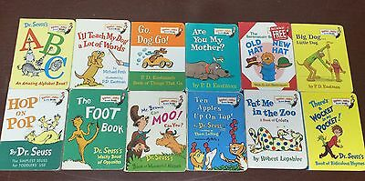 LOT OF 20 DR SEUSS BRIGHT and EARLY BEGINNER HARDCOVER BOOK LOT ~ EUC!