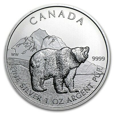 Canada - Grizzly 2011 - 1 OZ Silver Argento