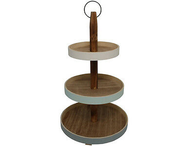 3 Tier Cake Stand Muffin Cupcake Cakestand Wedding Party Display Round Wooden