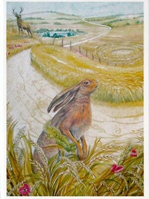 PAGAN WICCAN GREETING CARDS Harvest Hare WENDY ANDREW Goddess NATURE CELTIC