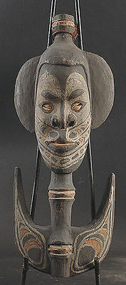 Intense Ancestor Spirit Hook  Middle Sepik River   Papua New Guinea