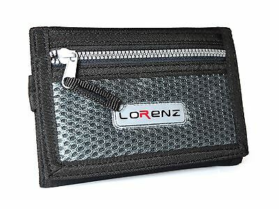 Lorenz New Mens Boys Trifold Sport Wallet Purse With Zip And Belt Hook