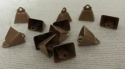 NEW COPPER BELLS craft supply SET 12 Cow bells stuffed animals wreaths ornaments