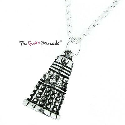 TFB - DALEK PENDANT NECKLACE Retro Cool Quirky Novely Fun Funky Costume TV Dr
