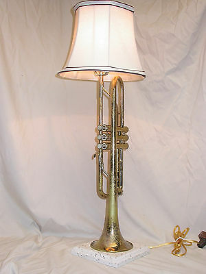 Neat Old Bundy Trumpet Table Lamp – Has Character!