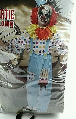 Wriggly Mortie the undead clown halloween costume size medium 10-12 kids boys